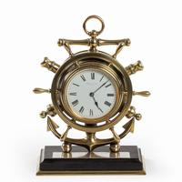Brass Ship's Novelty Clock Presented to Captain Tynte F Hammill RN (3 of 7)