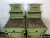 Antique French Painted Bedside Tables Pot Cupboards Original Paint (9 of 13)