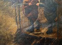 Newlyn School? Fab 19th Century Fishermen in Rough Seas Oil Portrait Painting (7 of 16)