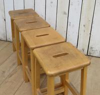 Set Of Four School Lab Bar Stools (2 of 7)