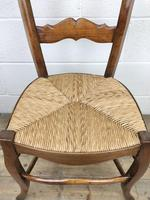 Set of Four Antique French Fruitwood Dining Chairs (5 of 9)