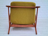 Alf Svensson, 60s, Armchair Model Kontur, Completely Restored, Furniture Wool (12 of 16)