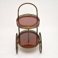 1960's Vintage French Brass Drinks Trolley (11 of 13)