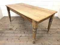 Victorian Pine Kitchen Table (3 of 9)