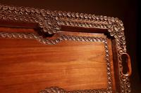 Two Colonial Very Fine Carved Wooden Trays (12 of 13)