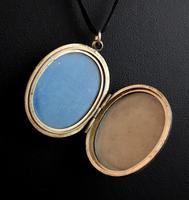 Antique Gold Mourning Locket, Victorian (4 of 15)