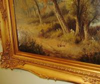 Large Victorian Oil Landscape by W.Wilson (2 of 5)