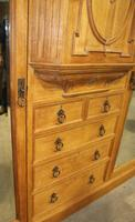 1900's Large Quality Oak Mirrored Compactum Wardrobe (2 of 6)
