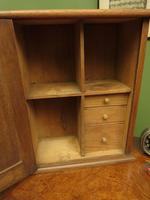 Small Antique Oak Cabinet, Medical Medicine Cabinet with Internal Drawers & Key (5 of 13)