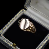 Antique Shield Signet 9ct 9K Yellow Gold Ring (8 of 10)