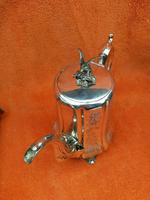 Antique Victorian Silver Plate Teapot C1870 Hand Engraved Folate Patterning with Bird, Maybe Eagle Finial (11 of 11)