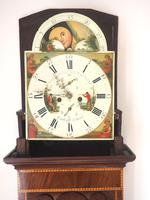 Fine English Longcase Clock Radcliff Elland 8-day Grandfather Clock with Moon Roller Dial (25 of 27)