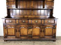 Large 20th Century Georgian Style Oak Dresser (12 of 23)