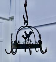 Blacksmith Made Iron Game Hanger, Kitchen Utensil or Pot Hanger