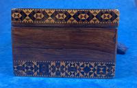 William IV Rosewood Glove Box with Superb Stickware & Tunbridge Ware Inlay (9 of 12)
