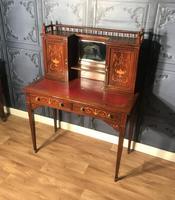 Edwardian Inlaid Rosewood Desk (16 of 23)