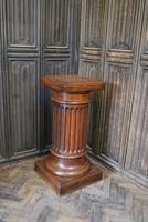 Fluted Oak Pedestal Column (2 of 4)