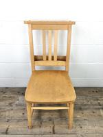 Set of Four Vintage Beech Chapel Chairs (9 of 16)