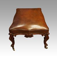 Large Victorian Leather Stool (4 of 7)