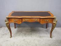 Large French Walnut Bureau Plat / Writing Table (2 of 16)