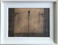 Original Mixed Media Drawing 'industrial Street' by John Thompson Signed & Dated 1981 - Framed (3 of 3)