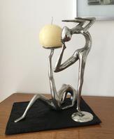 Pair of Modernist Dancer Candlesticks