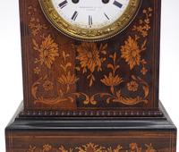 Wonderful Offices French Empire Mantel Clock Carved Floral Inlay (10 of 10)