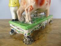 Rare Bull Baiting Staffordshire Figure Obadiah Sherratt (10 of 11)