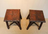 Pair Of Carved Oak Tables (5 of 9)