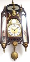 Very Rare English Fusee 5 Inch Dial Wall Clock Mahogany Gothic Ormolu Wall Clock by James Parker Cambridge (11 of 12)