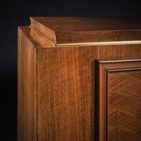 Jules Leleu, French Art Deco Walnut Parquetry Buffet Sideboard Signed Jules Leleu (5 of 11)