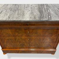 Exceptional Quality Inlaid Marble Top Commode (7 of 12)