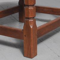 Oak & Leather Stool by Derek 'Lizardman' Slater of Crayke (5 of 5)