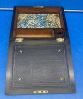 Victorian Burr Walnut Writing Box c.1870 (12 of 14)