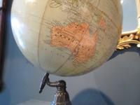 """1930's 12"""" Plaster Terrestrial Globe on Stand (5 of 8)"""