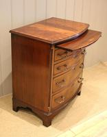 Mahogany Bow Front Chest of Drawers c.1920 (8 of 11)