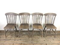 Set of 4 Antique Ash & Elm Farmhouse Chairs (2 of 8)