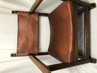 Fine Vintage Early 20th Century Original Adolf Loos Vienna Fireside Leather Armchair Secessionist Oak (5 of 46)