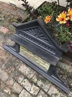 Antique Victorian Cast Iron Overmantle Mirror & Shelf (2 of 8)