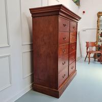 Large Antique Bank of Mahogany Drawers c.1880 (6 of 8)
