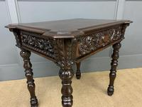 Good 19th Century Carved Oak Table (8 of 15)