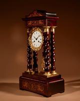 Original Antique Inlaid French Portico Clock c.1870 (5 of 8)