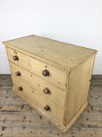 Small Victorian Antique Pine Chest of Drawers (5 of 15)