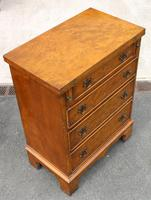 1940s Walnut Batchelors Chest Drawers with Table Top (5 of 6)