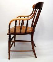 Edwardian Oak Bentwood Office Chair (5 of 11)