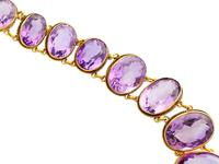 274.91ct Amethyst & 18ct Yellow Gold Rivière Necklace - Antique Victorian (6 of 12)