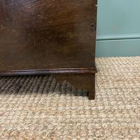 Small Period Oak Six Plank Antique Coffer (7 of 7)