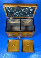 George III Satinwood Twin Tea Caddy with Prince of Wales Inlay (11 of 15)