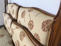 French Pair of Roll End Single Bed Frames with Slatted Bases (6 of 17)