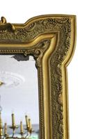 19th Century French Gilt Wall Mirror Overmantle Crest (7 of 9)
